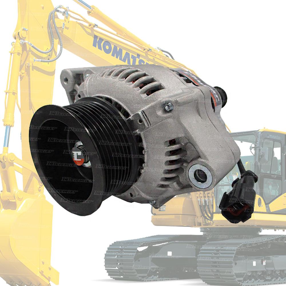 ALTERNADOR KOMATSU PC200 PC220 D61 WA320 S6D102 XZN1306 (POLIA 8 VIAS) 28V 60A 101211-7960 27050, PC200, PC220, PC240, PC220-7 PC220-8, S6D102, XZN1306