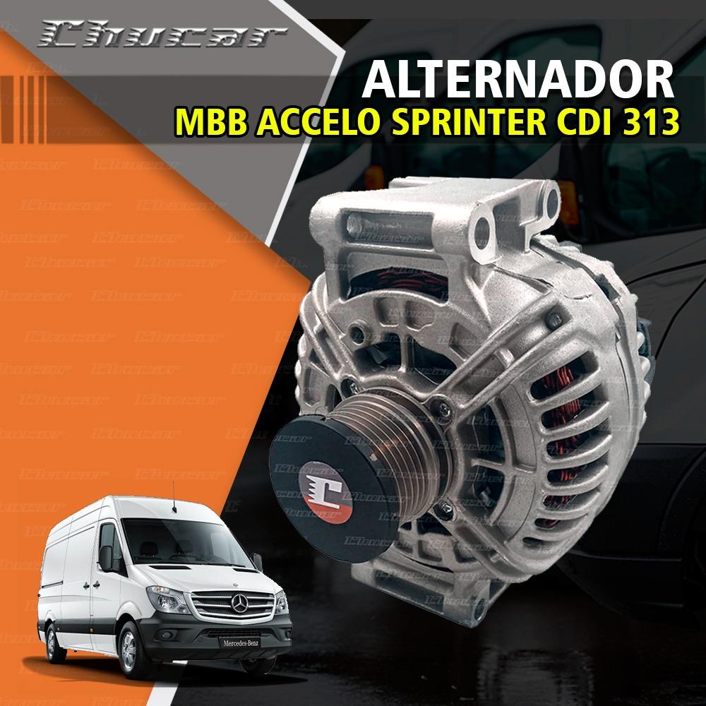 ALTERNADOR MBB ACCELO SPRINTER CDI 313 OM611 0124325039 0124515064 0124515114 0121542402 A0131541502 RD24002