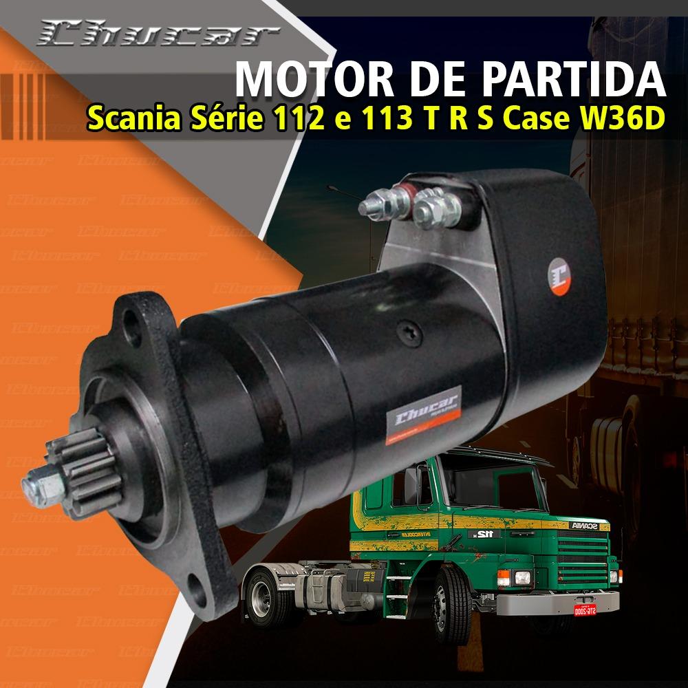 Motor de Partida KB Scania Série 112 e 113 T R S Case W36D W36E Massey Fergusson MF4780 e Fiat Allis AD14 0001417042 9.000.084.012 9000084012 11.139.022 11139022 IS9022 AZK5181 LRS00764 349575 571453 438045 9.000.084.013 9000084013 64254 64513 0571453